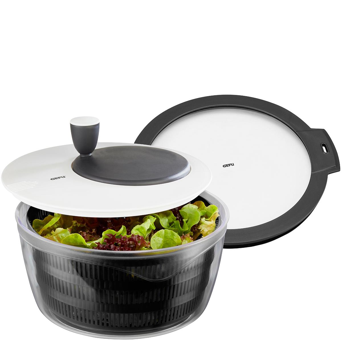 """GEFU Комплект центрофуга за салата """"ROTARE"""" + капак за съхранение"""